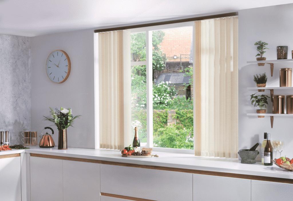 Kitchen vertical blinds