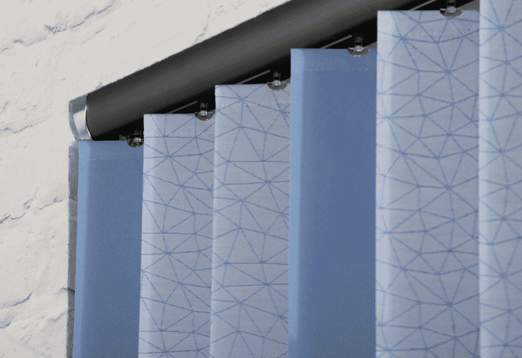Vertical blinds top bar