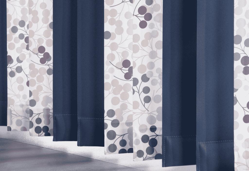Hanging vertical blinds